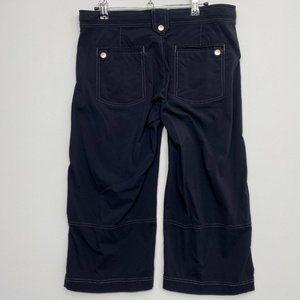Lucy Cropped Pants Black Women M Nylon Spandex